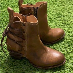 BED STU Cobbler Blaire Rustic Leather Lace Boots 8